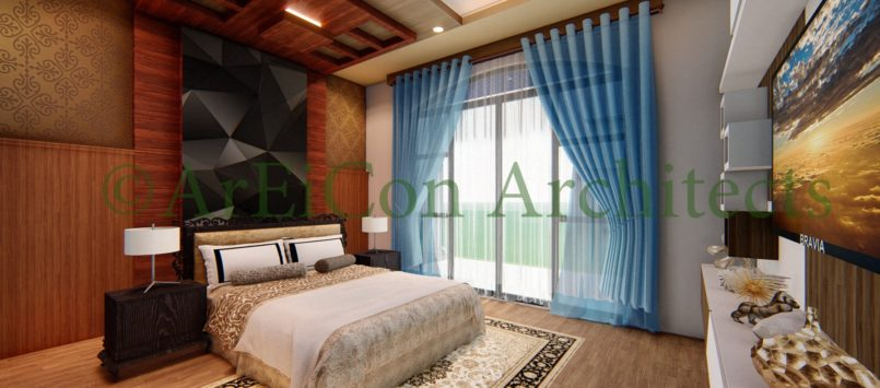 Interior Design of Bungalow In pokhara