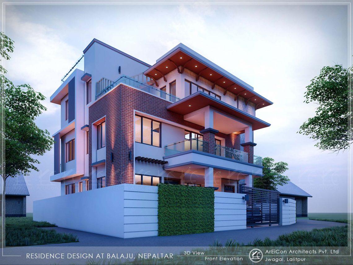 Bungalow Residence Design, Nepaltar